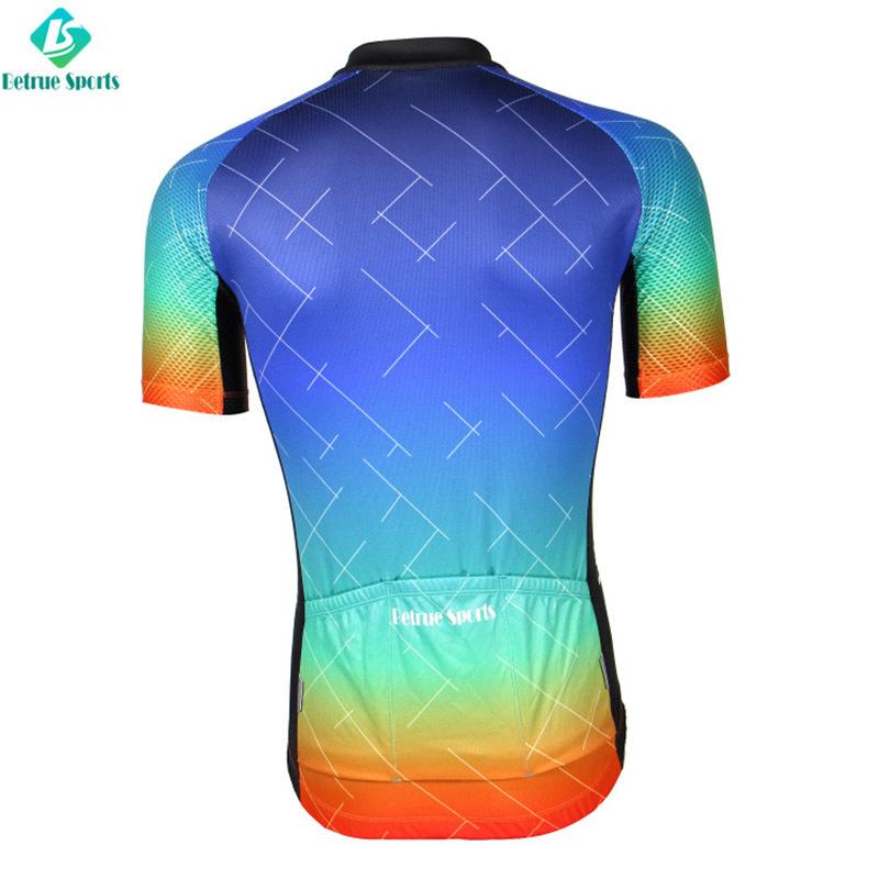 Colorful Men Cycling Jersey custom BQ0017-5