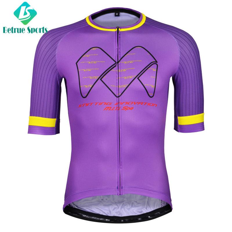 Eggplant purple Men Cycling Jersey High End BQ7002