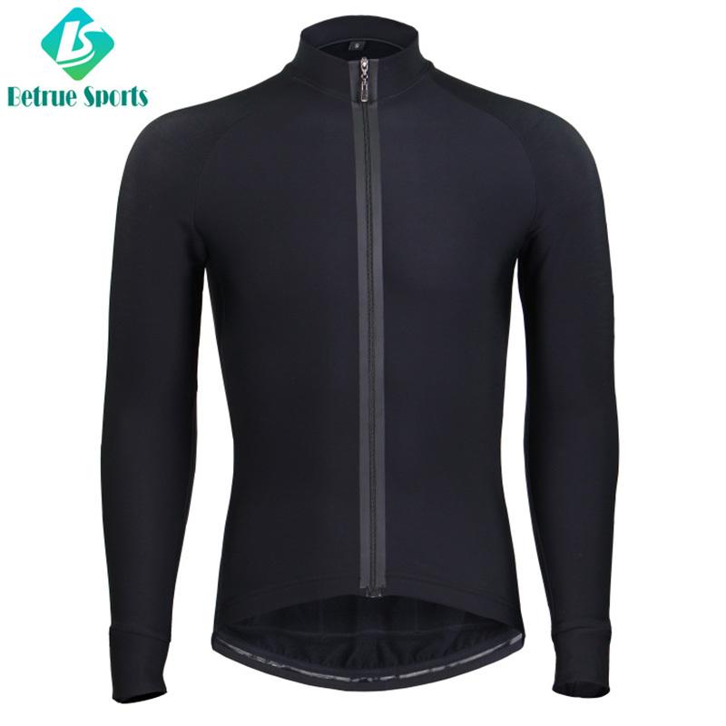 Winter Men Black Fleece long sleeve Cycling Jersey High End BQ0085