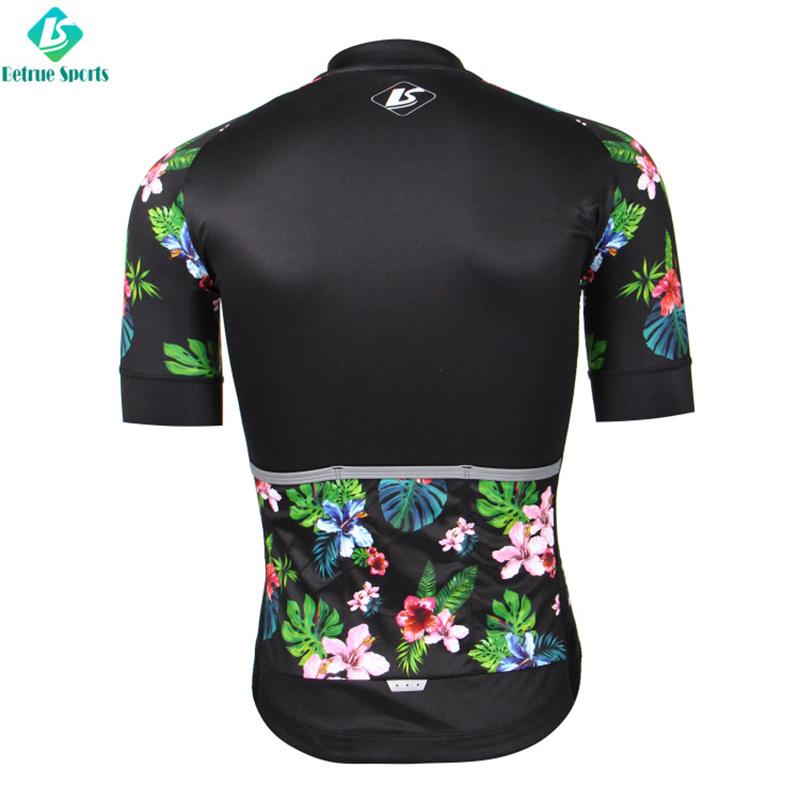 Summer flowers men cycling jersey for road bike BQ0021