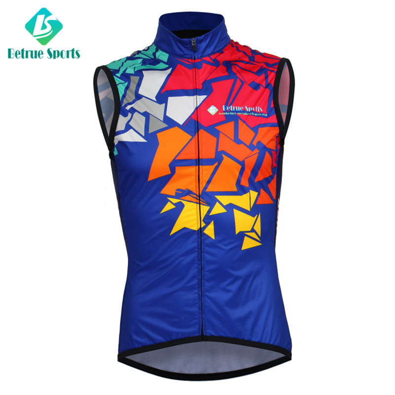 Men Custom Cycling Windproof Vest Sleeveless High Quality BQ0007-1