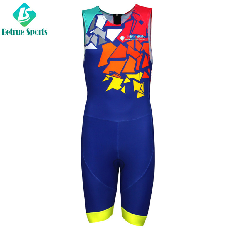 Men Italian Triathlon Suits Sleeveless High Quality BQ0052