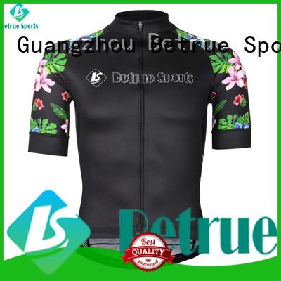 Wholesale flowers long sleeve cycling jersey black Betrue Brand