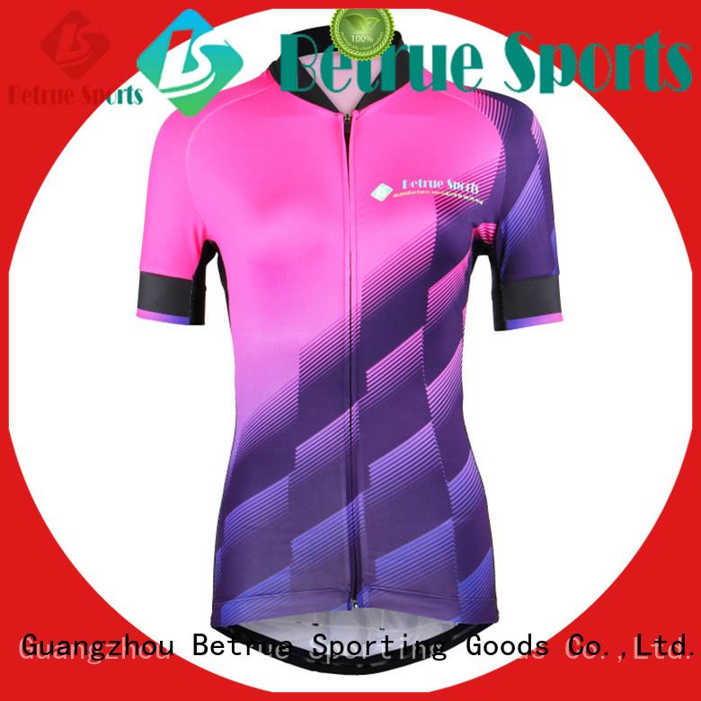 Betrue Brand blue bq7001 light custom cycling jersey manufacture