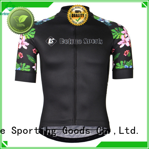 long sleeve cycling jersey flowers Betrue Brand mens cycling jersey