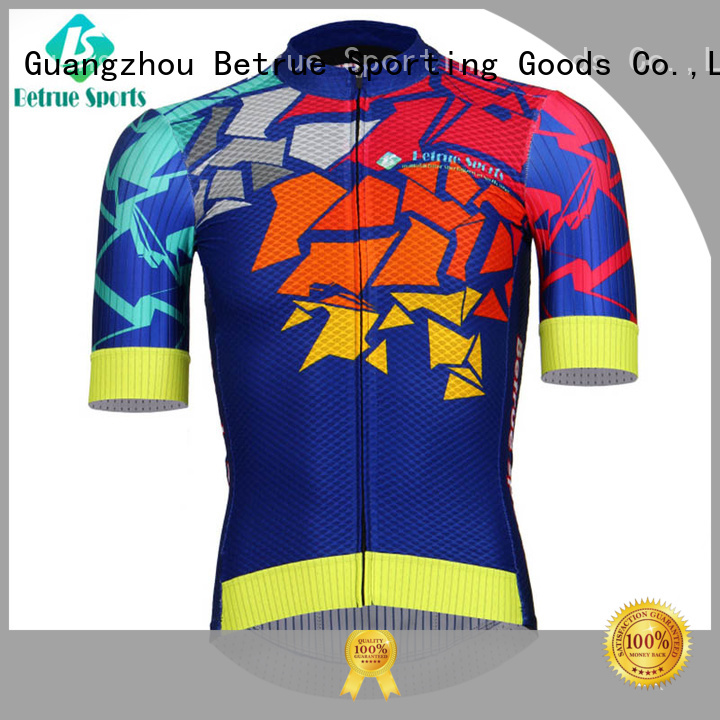 purple Custom summer mens cycling jersey night Betrue